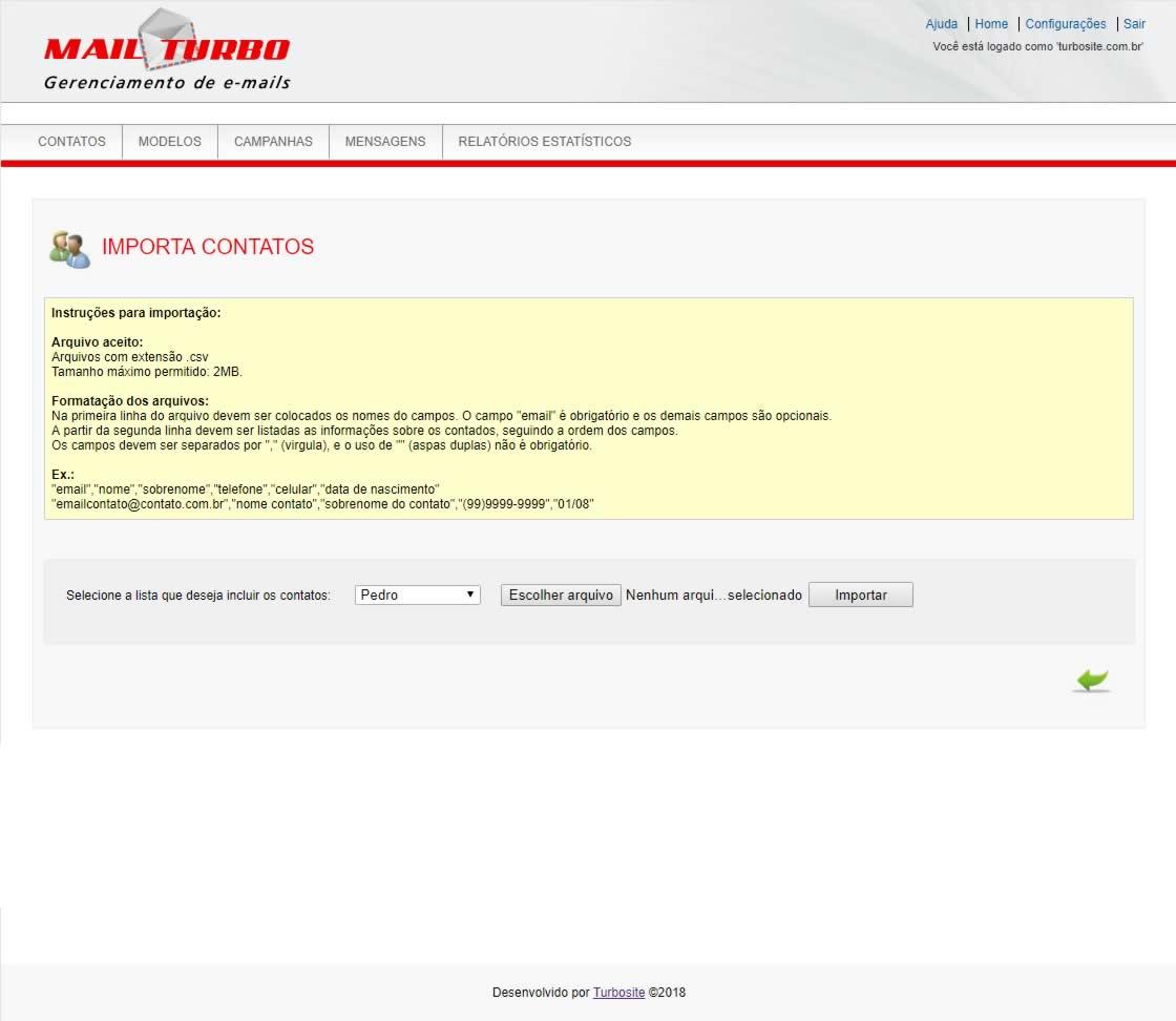 TWI E-mail Marketing Contatos Importação