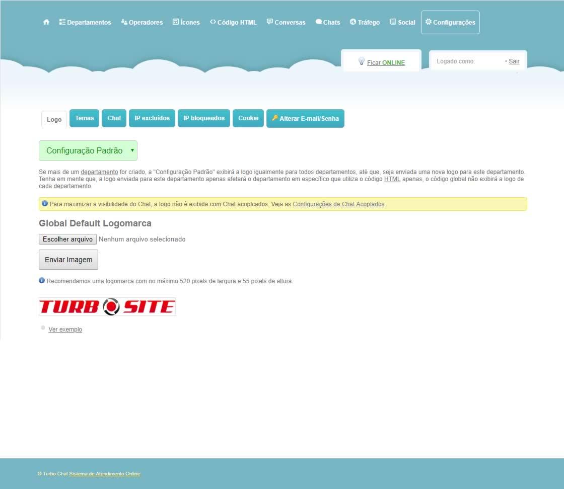 TWI Atendimento Online Configurações