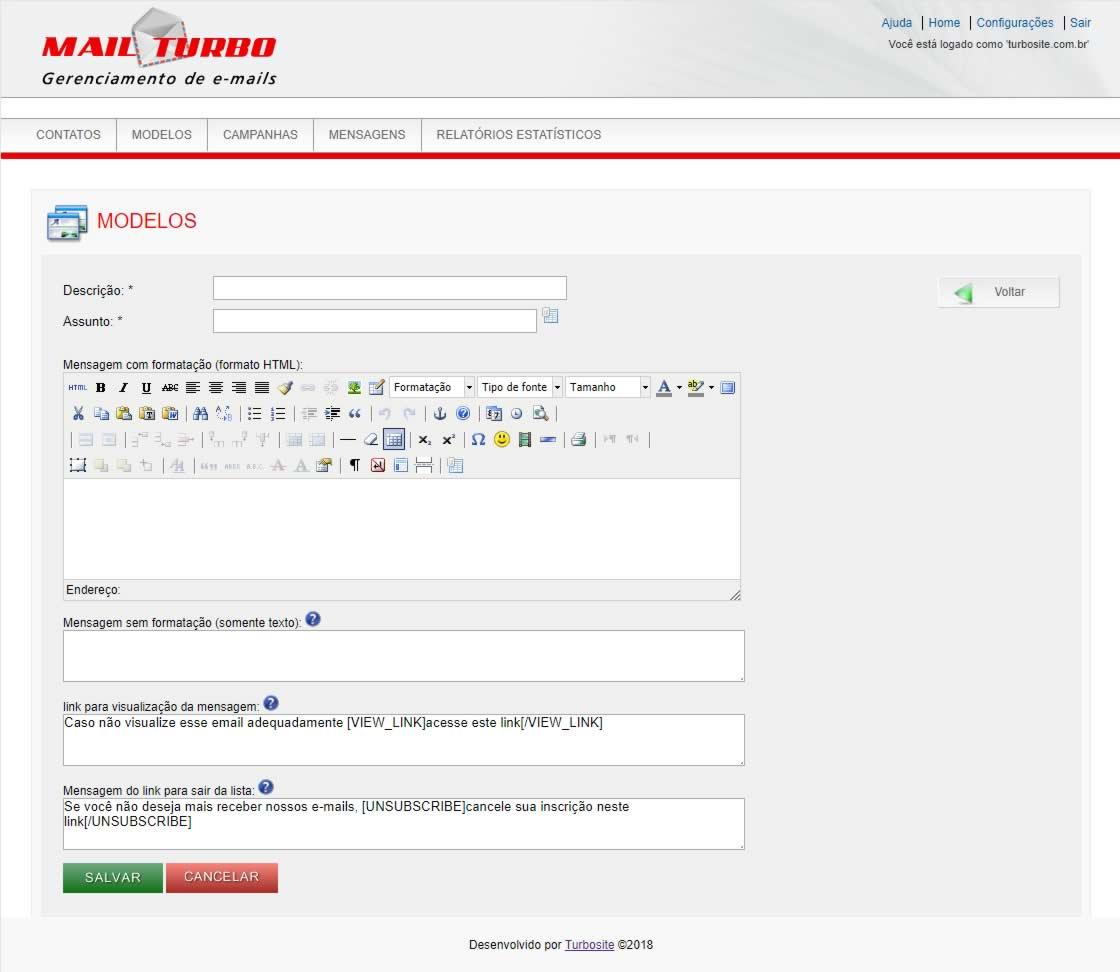 TWI E-mail Marketing Modelos